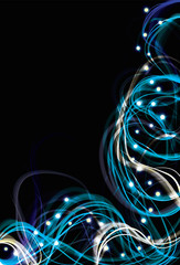 Blurry abstract electric light effect blue background