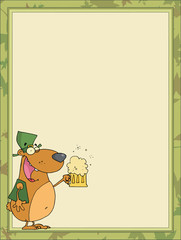 St Paddy's Day Bear Of A Stationery Background Or Blank Menu