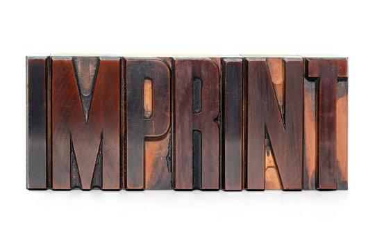 Imprint - letterpress type