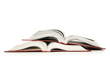 Open book isolated on the white background