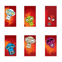 thrilling halloween cards vectors