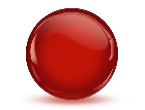 ball reflection, 3d red