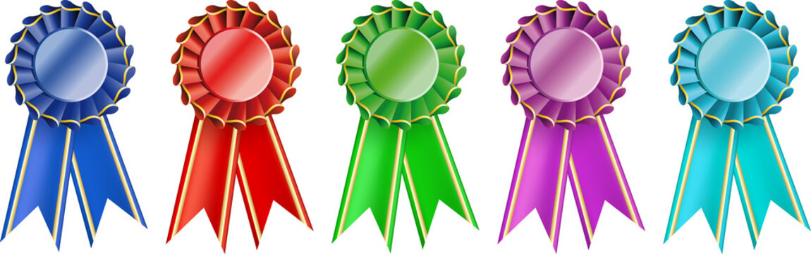 set  award ribbons