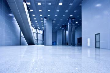 Empty blue hall