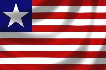 Nationalfahne von Liberia