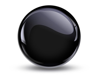 ball reflection, 3d black