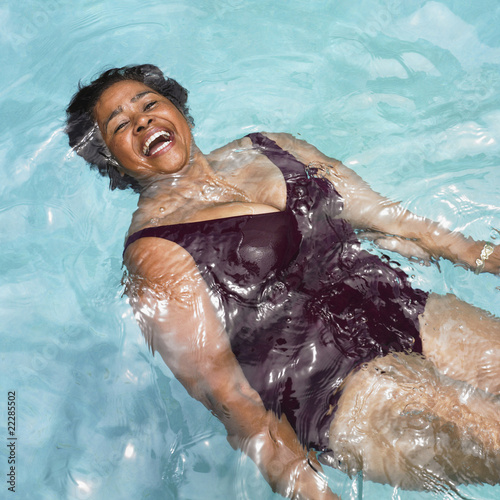 3774801715d Senior Mixed Race woman in swimming pool