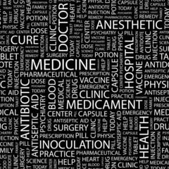 MEDICINE. Seamless vector background.