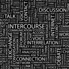 INTERCOURSE. Seamless vector pattern with word cloud.