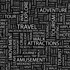TRAVEL. Seamless vector background.