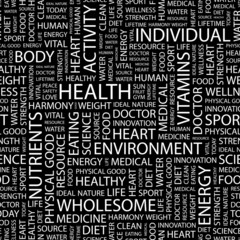 HEALTH. Seamless vector background.