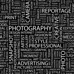 PHOTOGRAPHY. Seamless vector background.