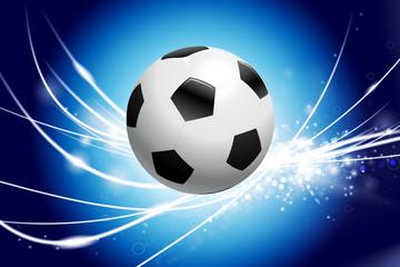 Soccer Ball on Abstract Modern Light Background