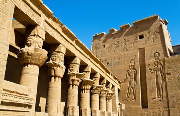 Poster Egypt Ägypten, Assuan, Philae-Tempel