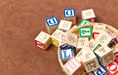 Basket of Toy Blocks