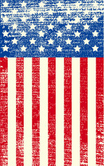 Poster Fairytale World American grunge flag