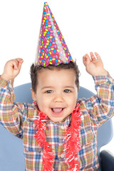 Adorable baby celebrating the birthday