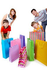 Family and bags