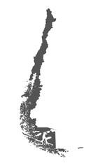 Karte von Chile - freigestellt
