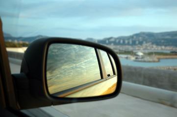 Wall Mural - specchio auto