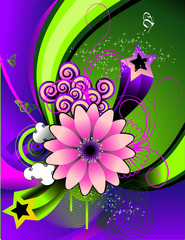 Flower vector composition