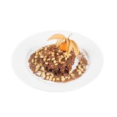 Chocolate risotto dessert