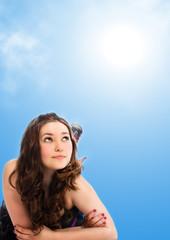 Fototapeta summer girl