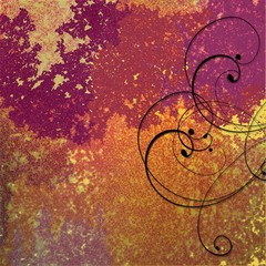 Abstract Background of Vibrant Colors and Swirls