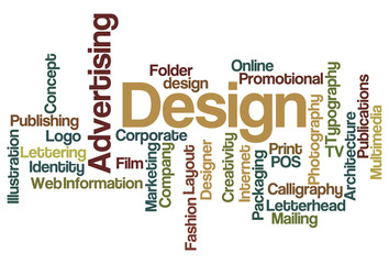 Advertising and Design - Word Cloud