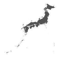 Karte von Japan - freigestellt
