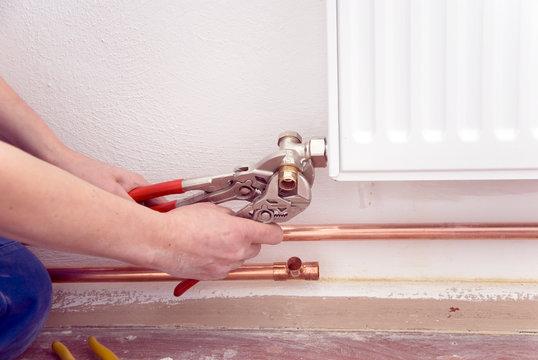 plumber radiator pipes
