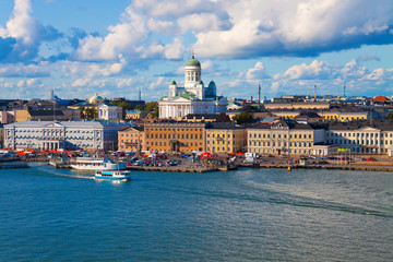 Printed roller blinds Scandinavia Summer panorama of Helsinki, Finland