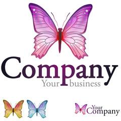 logo 015 - papillon - logotype label