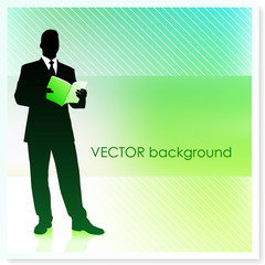 Businessman on Vector Background