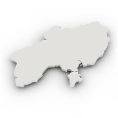 Landkarte Ukraine, einfach