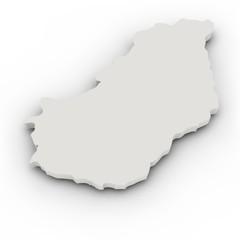 Landkarte Ungarn, einfach