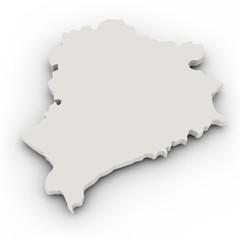 Landkarte Weiss-Russland, einfach