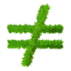 High resolution conceptual grass symbol isolated