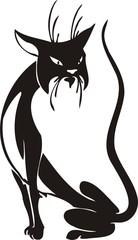 Black Cat. Vector Image.