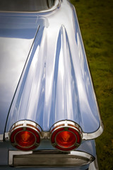 Wall Mural - tail lights on a classic fifties american car