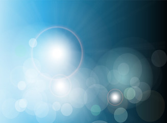 Vector abstract background blue lights