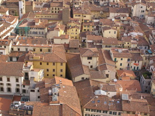 Florence - cityscape with roofs