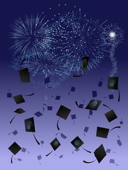 Fireworks at graduation
