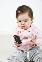 Baby calling by mobile phone