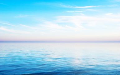 Sunset - a quiet sea landscape