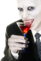 vampire enjoying his drink