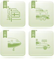 Olivine 2D Squared Icons Set: Hotel