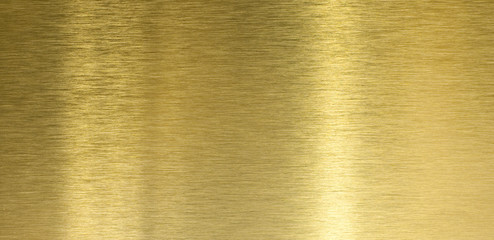Wall Mural - High quality brushed brass texture with light reflection