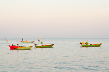 four fishing boat