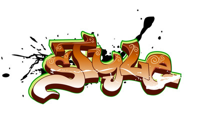 Graffiti vector design. Style